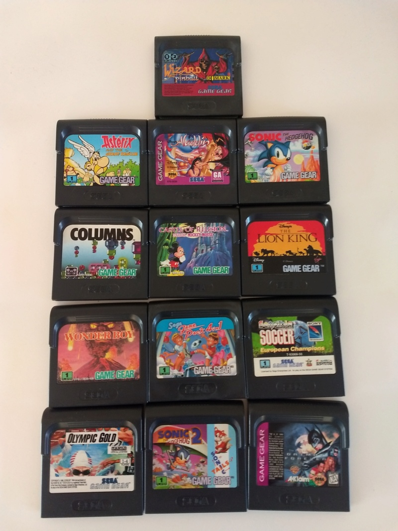 [VDS] Lot 13 jeux Game Gear dont Wizard Pinball Img_2089