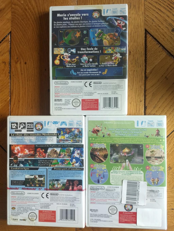 [Vente Flash] Mario Galaxy, Pikmin 2 et Smash Bros wii neuf sous blister ! Img_2102