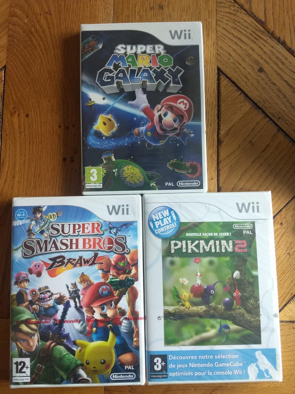 [Vente Flash] Mario Galaxy, Pikmin 2 et Smash Bros wii neuf sous blister ! Img_2103