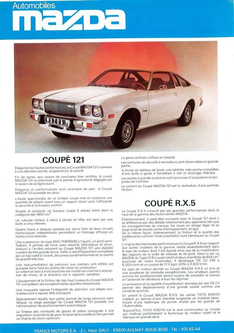 [TOPIC OFFICEL] MAZDA 121 / RX5 ou COSMO AP - Page 5 Doc29010
