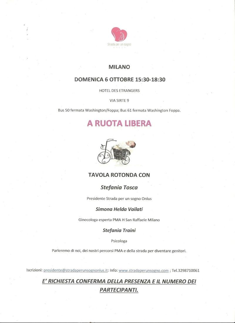 MILANO DOMENICA 6 OTTOBRE HOTEL DES ETRANGERS VIA SIRTE 9 ORE 15:30-18:30 Domeni12