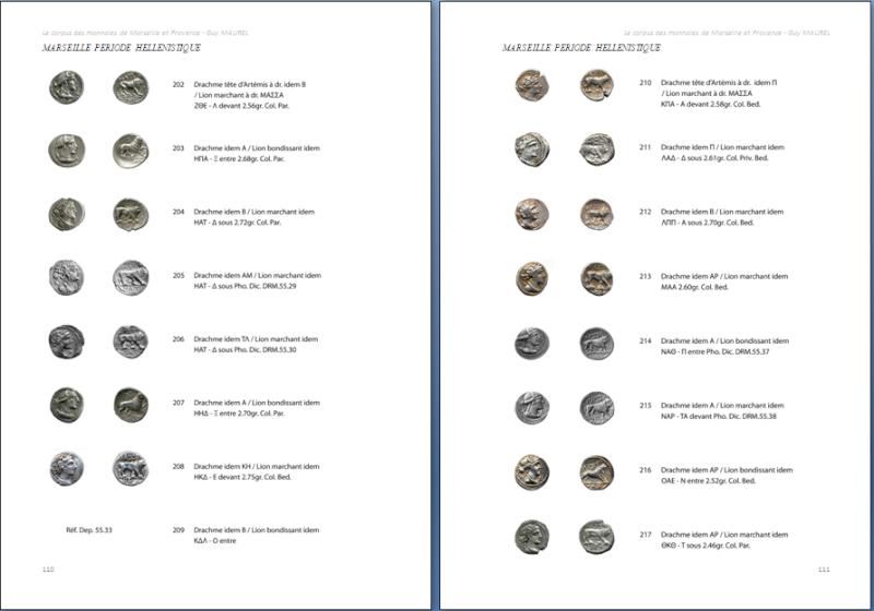 Corpus des monnaies de Marseille et Provence, Languedoc Oriental et Vallée du Rhône Dracma10