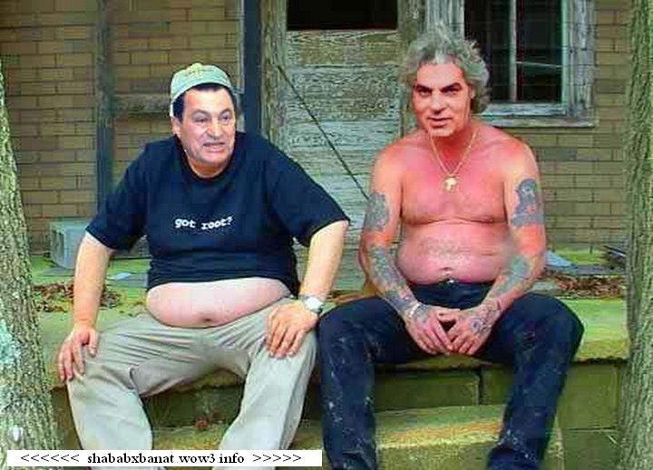 صورة مضحكة لـ بن على و  مبارك..... 16815010
