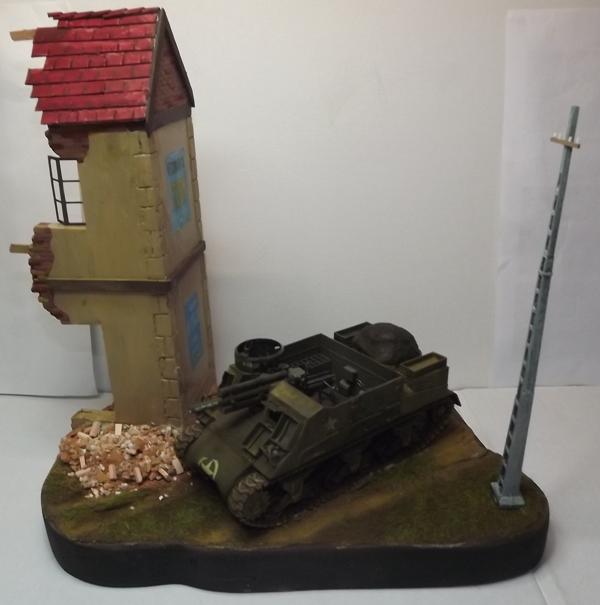 COUTANCES, le 29 juillet 1944, la 6th Armored Division traverse les faubourgs de Coutances. Dscf6656