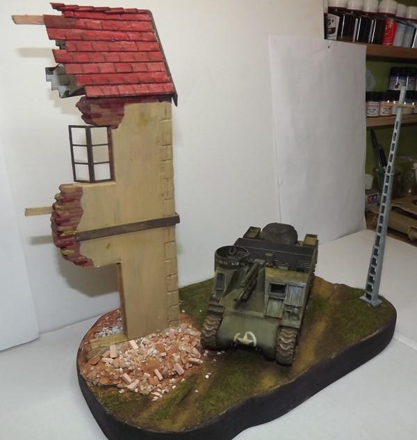 COUTANCES, le 29 juillet 1944, la 6th Armored Division traverse les faubourgs de Coutances. Dscf6657