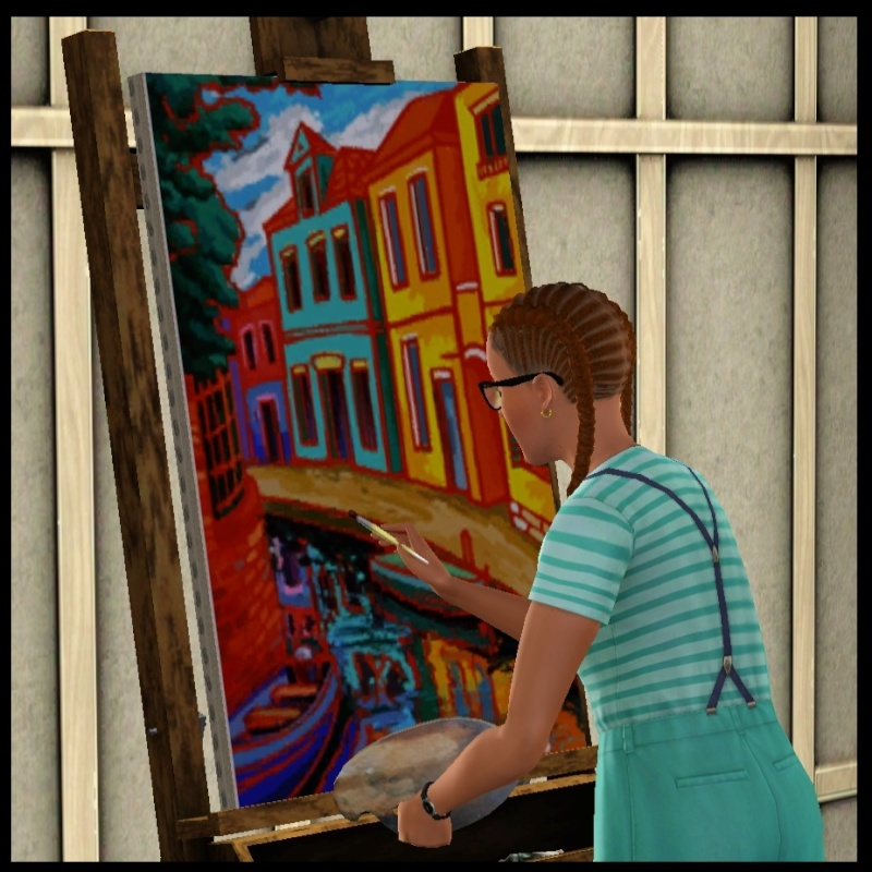 Brush Strokes - What's your Sim Painting? Colorf10
