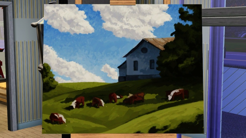 Brush Strokes - What's your Sim Painting? Moo_pa10
