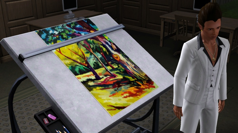 Brush Strokes - What's your Sim Painting? Strang11