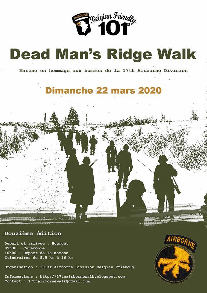 17th Airborne Division - Dead Man's Ridge Walk 2020 Poster10