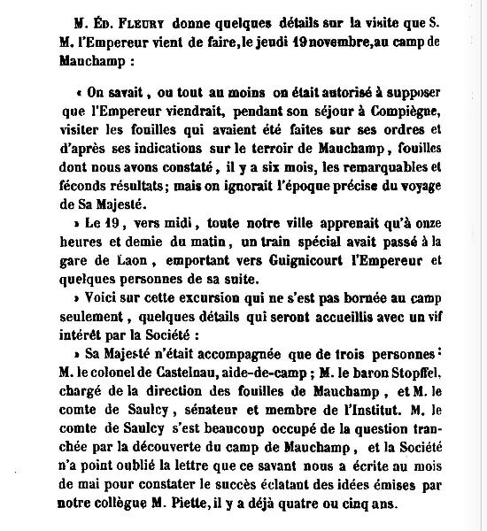 19 Novembre 1864, l'Empereur Napoléon III à Sapigneul 6410