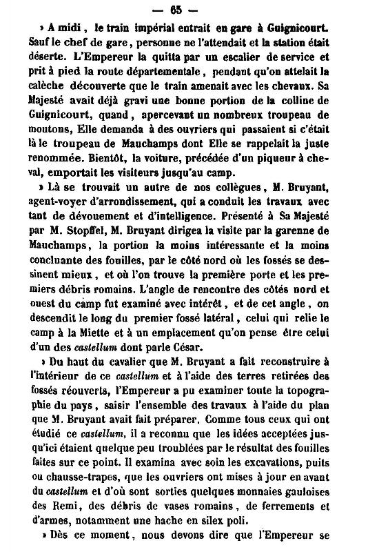 19 Novembre 1864, l'Empereur Napoléon III à Sapigneul 6510