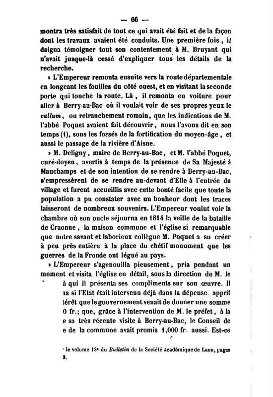 19 Novembre 1864, l'Empereur Napoléon III à Sapigneul 6610