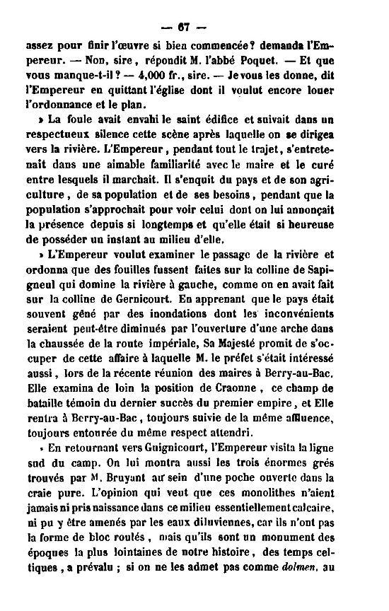 19 Novembre 1864, l'Empereur Napoléon III à Sapigneul 6710