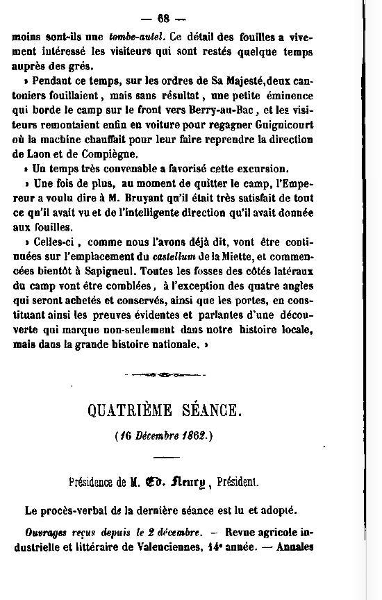 19 Novembre 1864, l'Empereur Napoléon III à Sapigneul 6810