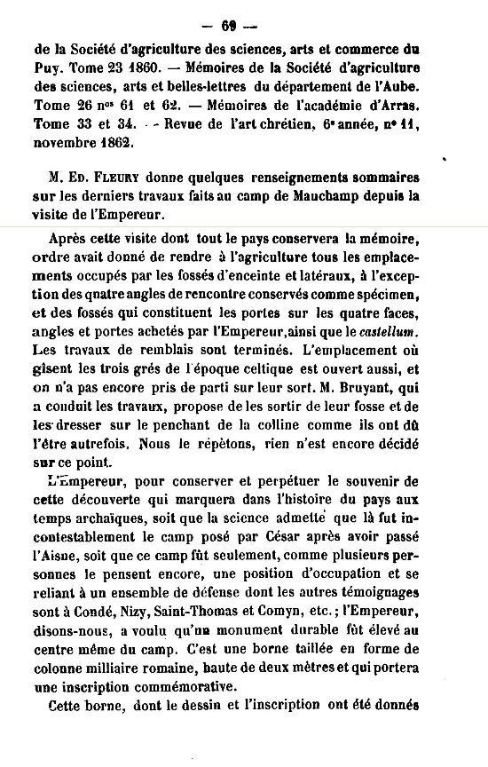 19 Novembre 1864, l'Empereur Napoléon III à Sapigneul 6910