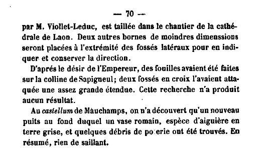 19 Novembre 1864, l'Empereur Napoléon III à Sapigneul 7010