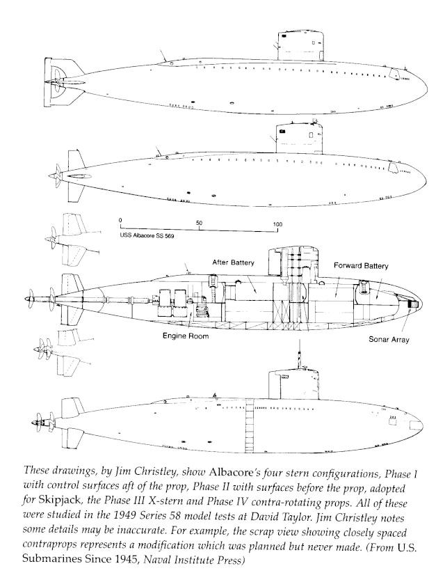 1er aout 1953 lancement de AGSS569 ALBACORE aux USA 12-05-10