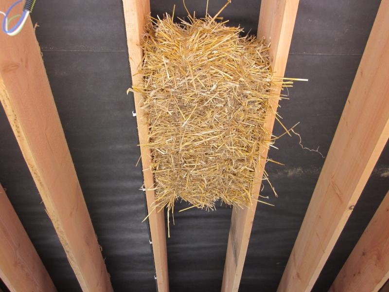 isolation toiture par dessous en paille et chaux ?? Paille10