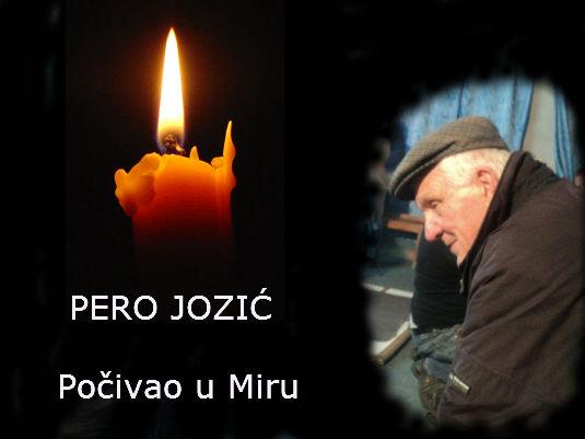 Tužna vijest - Umro je Pero Jozić 42019910