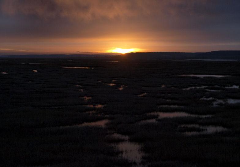 Le solei se lève au pont de Normandie Leevr013