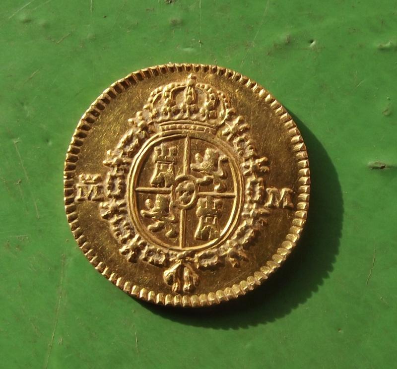 Demi Escudo Charles III d'Espagne 1788 M (Madrid) Dima_j10