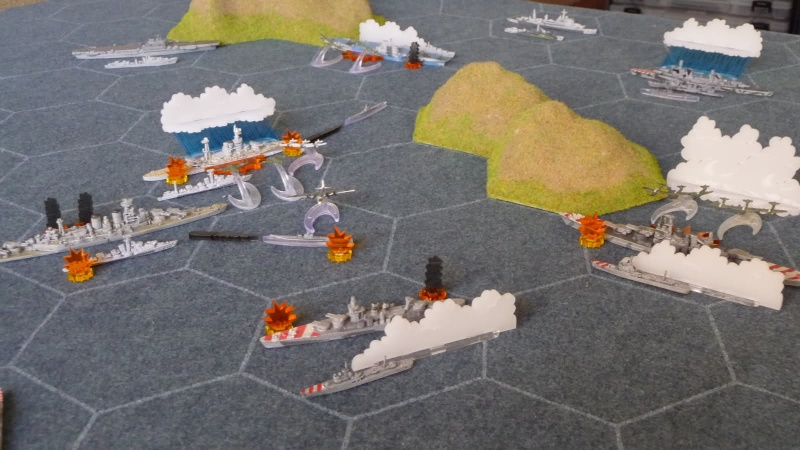 WWII Axis & Allies War at Sea Was110