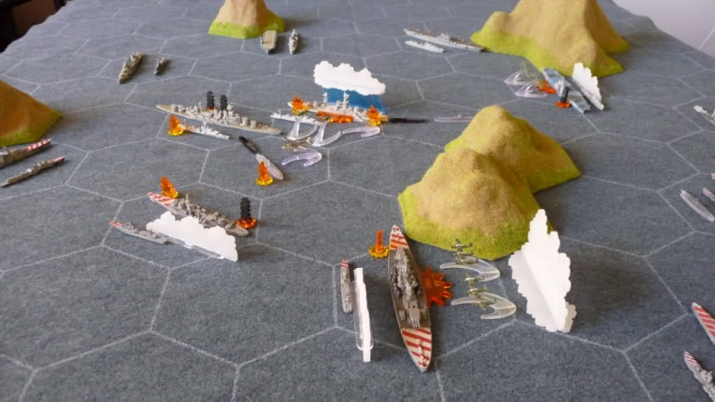 WWII Axis & Allies War at Sea Was210