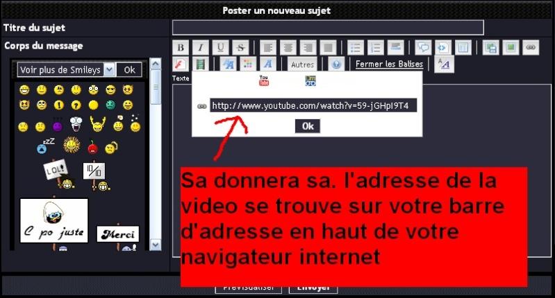 tuto pour mettre des videos sur le forum Atape_12