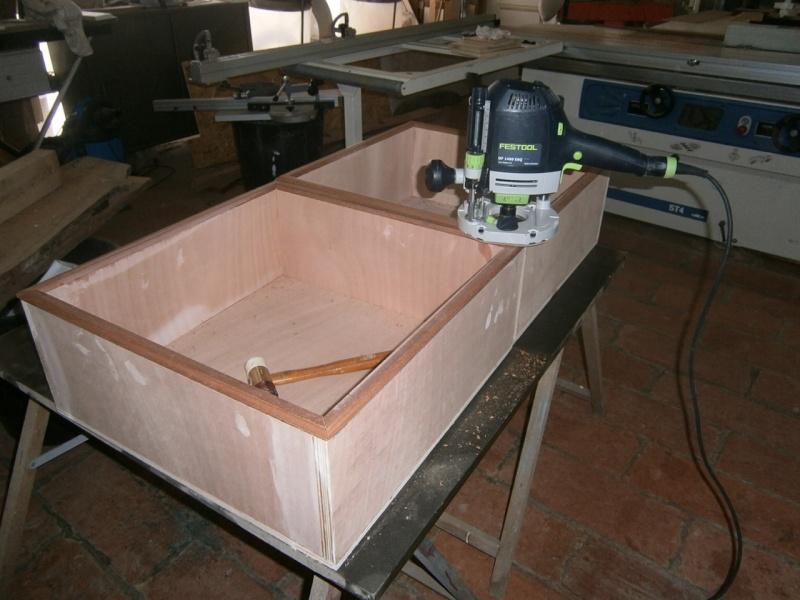 fabrication tiroirs en remplacement d'une étagère P3061415