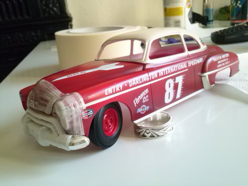 OLDS 1950 american stock car racing/REVELL TERMINEE!! Cam00725