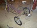 Autofabrication d'un trike, hauteur de pedalier P1020912