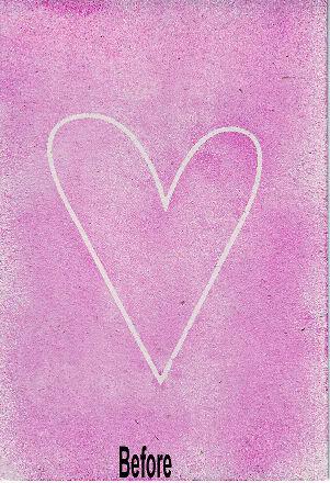Anniversary Card using heart mask Annive13