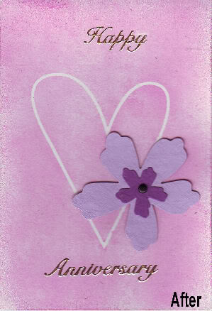Anniversary Card using heart mask Annive14