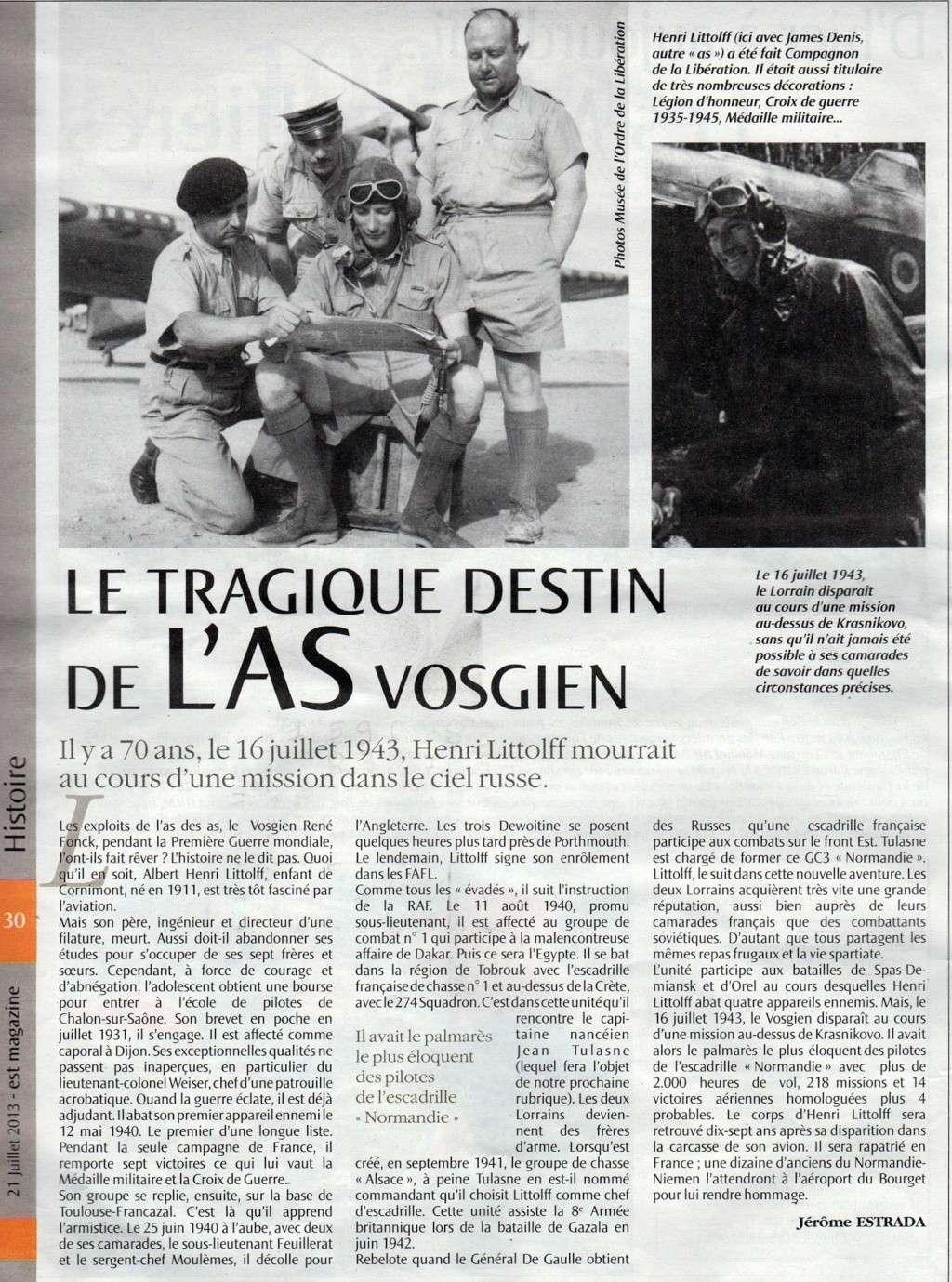Article paru dans Vosges-matin le 21 juillet 2013 12670210