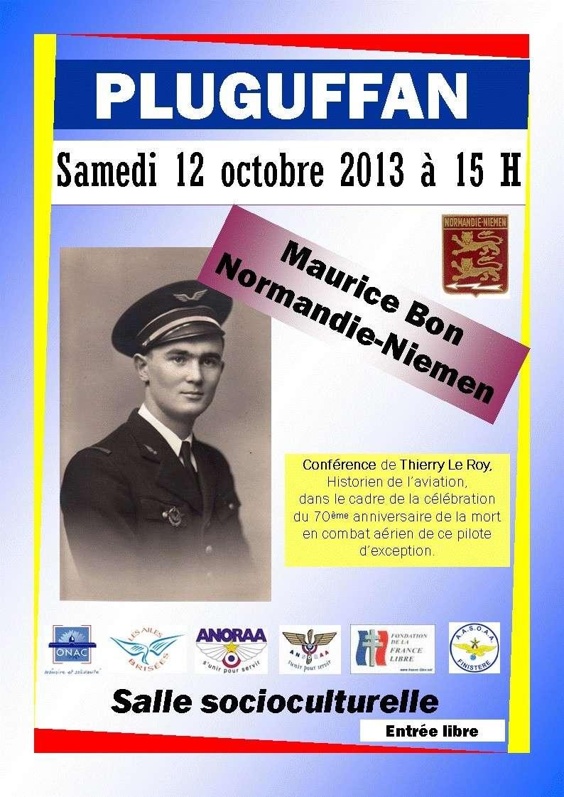 Cérémonies en commémorant le 70' anniversaire de la mort de Maurice BON Mauric10