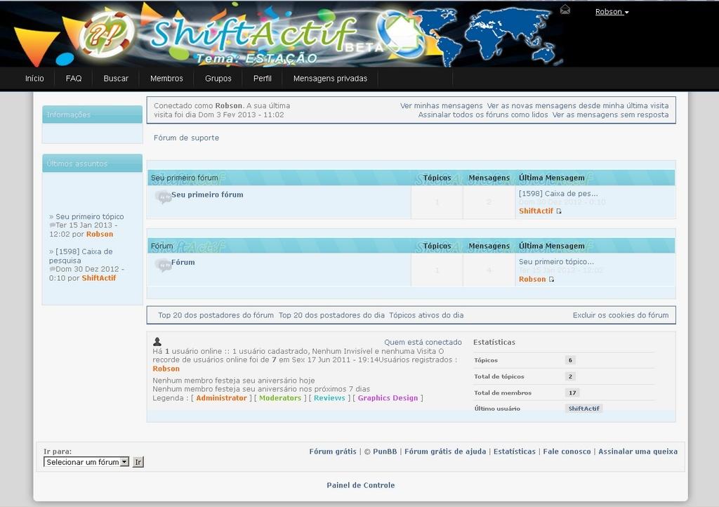 Tema ESTAÇÃO para fóruns PunBB + templates View_t10