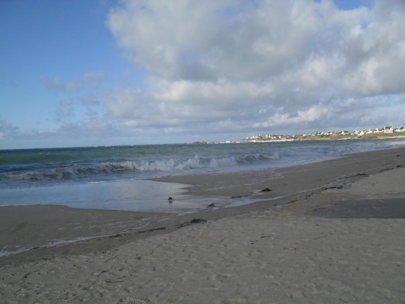 La plage de Pors-meur ce soir à marée haute 00810