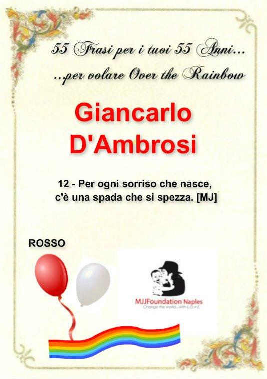 55 frasi per i tuoi 55 anni...per volare Over the Rainbow Gianca10