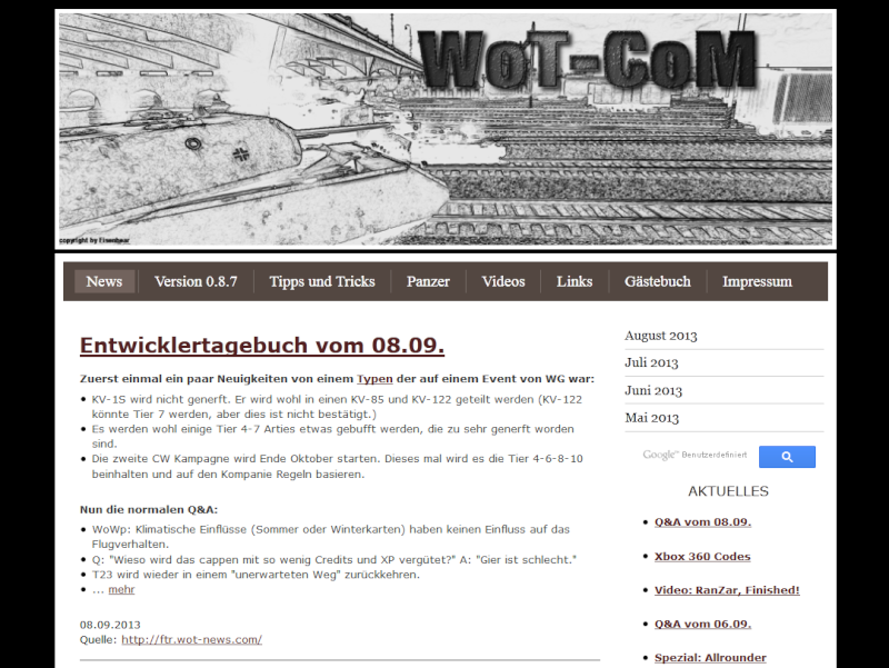 wot.com.de    - schöne deutsche News Seite rund um WoT 2222nn10