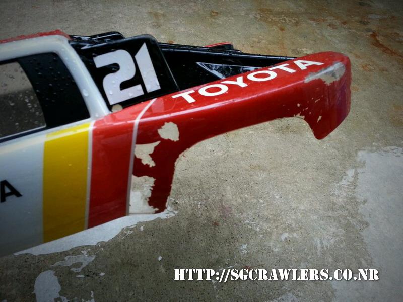 toyota - Boolean21's Traxxas Slash 4x4 Platinum Edition - Ivan Stewart Toyota Theme paint work 20130213