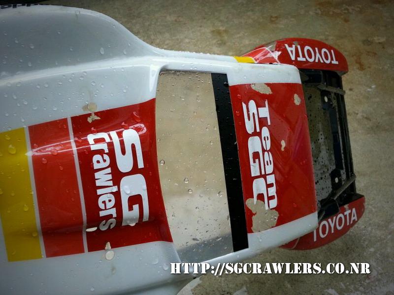 toyota - Boolean21's Traxxas Slash 4x4 Platinum Edition - Ivan Stewart Toyota Theme paint work 20130214