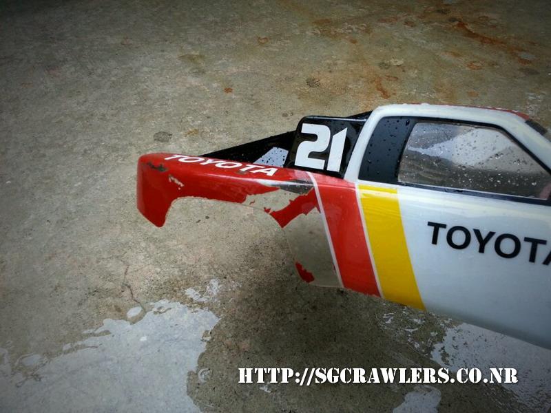 toyota - Boolean21's Traxxas Slash 4x4 Platinum Edition - Ivan Stewart Toyota Theme paint work 20130216