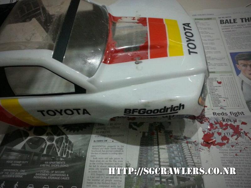 toyota - Boolean21's Traxxas Slash 4x4 Platinum Edition - Ivan Stewart Toyota Theme paint work 20130315
