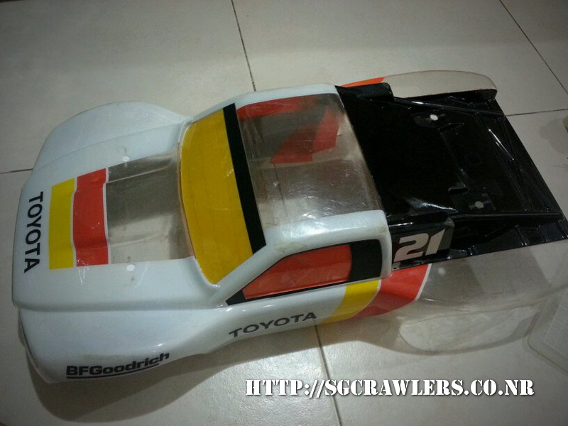 toyota - Boolean21's Traxxas Slash 4x4 Platinum Edition - Ivan Stewart Toyota Theme paint work 20130318