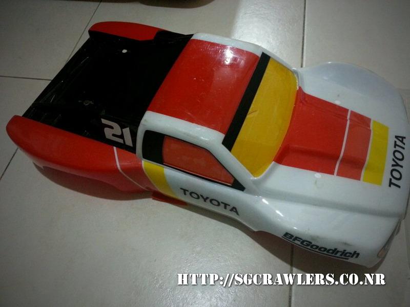 toyota - Boolean21's Traxxas Slash 4x4 Platinum Edition - Ivan Stewart Toyota Theme paint work 20130320