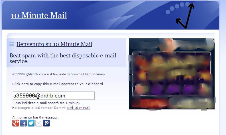 Come creare un e-mail temporanea (usa e getta) - 10 minute mail 28rfp810