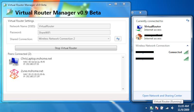 Crea il tuo hotspot Wi-fi gratuitamente con il PC - Virtual Router Manager Av0jdw10