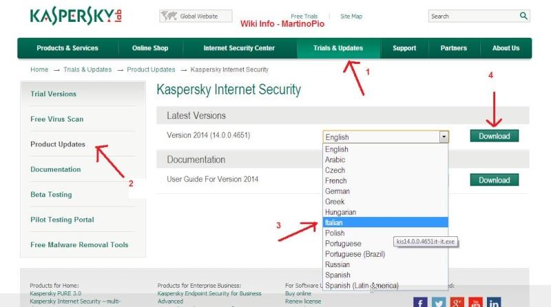 Come aggiornare Kaspersky all'ultima versione Kisupd10