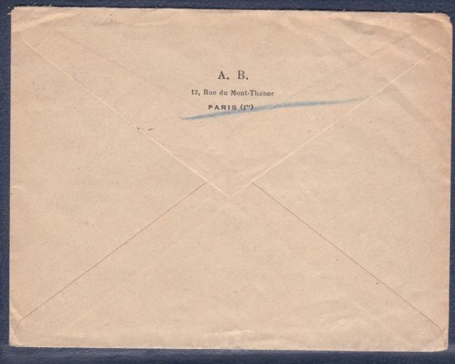 """Lettre (de Paris) avec oblitération """" rosette de Lyon"""" de septembre 1943 avec contenu. _2000310"""