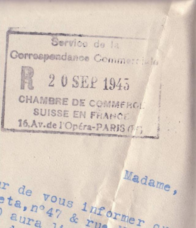 """Lettre (de Paris) avec oblitération """" rosette de Lyon"""" de septembre 1943 avec contenu. _4000611"""